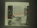 1940 Bausch & Lomb Ray-Ban Anti-Glare Shooting Glass Ad - C.A. Smitty Brown
