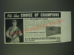 1940 10-X Riflemen's Coat and Riflemen's Glove Ad - It's the choice of champions
