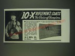1940 10-X Rifleman's Coats Ad - 10-X riflemen's coats the choice of Champions