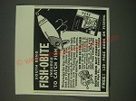 1940 South Bend Bait Company Fish-Obite Lure Ad - Insured to Catch Fish