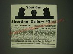 1940 Crosman Arms Automatic Dodo Target Ad - Your own Shooting Gallery