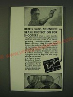 1939 Bausch & Lomb Ray-Ban Shooting Glass Ad - Here's safe, glare protection