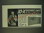 1939 10-X Riflemen's Coat and Riflemen's Glove Ad