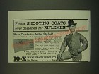 1939 10-X Rifleman's Coat and Rifleman's Glove Ad - Finest shooting coats ever