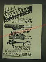 1939 Mossberg Spotshot Spotting Scope Ad - The ideal Christmas Gift