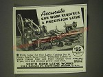 1939 South Bend Lathe Works Ad - Accurate gun work requires a precision lathe