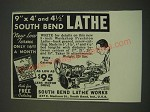 1939 South Bend Lathe Works Ad