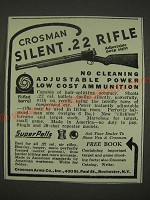 1939 Crosman Silent .22 Rifle Ad - No cleaning adjustable power low cost