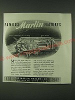 1942 Marlin Firearms Ad - Famous Marlin Features