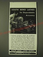 1942 South Bend Lathe Works Ad - For Dependable Accuracy