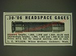 1942 L.E. Wilson Ad - .30-'06 Headspace Gages