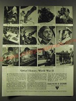 1945 Bausch & Lomb Optical Company Ad - Optical History: World War II