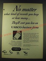 1948 UARCO Business Forms Ad - No matter what kind of records you keep