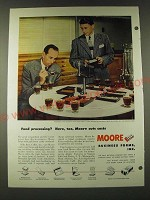 1948 Moore Business Forms Ad - Food processing? Here, too, Moore cuts costs