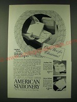 1948 American Stationery Ad - Order now for Christmas
