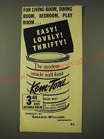 1948 Sherwin-Williams Kem-Tone Paint Ad - For living room, dining room