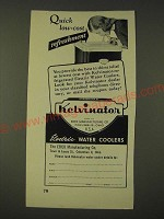 1948 Kelvinator Refrigerated Electric Water Cooler Ad - Quick low-cost