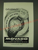 1948 Movado Calendomatic Watch Ad - Self-Wound by wrist action