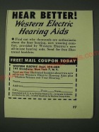 1948 Western Electric Hearing Aids Ad - Hear Better!