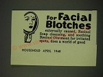 1948 Resinol Soap and Ointment Ad - For facial blotches