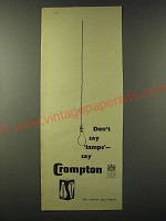 1955 Crompton Lamps Light Bulbs Ad - Don't say Lamps say Crompton