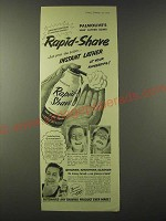 1955 Palmolive Rapid-Shave Ad - Instant Lather at Your Fingertips