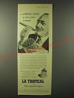 1955 La Tropical Cigar Ad - with love from a very wise woman