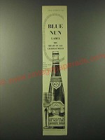 1955 H. Sichel & Sons Liebfraumilch Blue Nun Label Wine Ad