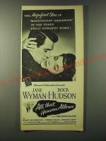 1955 All that Heaven Allows movie Ad - Jane Wyman and Rock Hudson