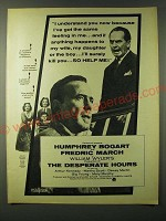 1955 The Desperate Hours movie Ad - Humphrey Bogart and Fredric March