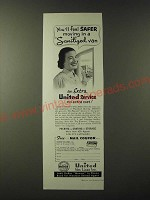 1955 United Van Lines Ad - You'll feel safer moving in a Sanitized van