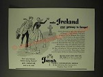 1955 Irish Tourist Information Bureau Ad - Make Ireland your gateway to Europe