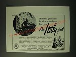 1955 Italian State Tourist Office Ad - Holiday pleasures in rich abundance