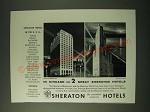 1955 Sheraton Hotels Ad - Sheraton-Blackstone and Sheraton Hotel Chicago