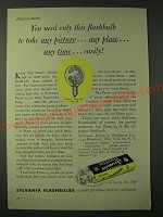 1955 Sylvania Press 25 Flashbulb Ad - You need only this flashbulb