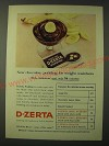 1955 General Foods D-Zerta Pudding Ad - chocolate pudding for weight watchers