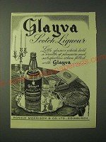1955 Glayva Scotch Liqueur Ad - Little glasses which hold a Weealth of Pleasure