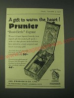 1955 Cognac Prunier Ad - A gift to warm the heart!