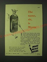 1955 Myers Rum Ad - The name, sir, is Myers