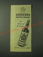1955 Sandeman Scotch Whisky Ad - The King of Whiskies