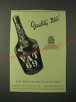 1955 Vat 69 Scotch Ad - Quality Tells