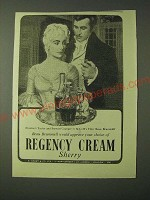 1955 Regency Cream Sherry Ad - Elizabeth Taylor and Stewart Granger