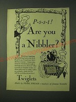 1955 Peek Frean Twiglets Biscuits Ad - P-s-s-t! Are you a Nibbler?