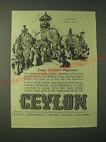 1955 Ceylon Tourism Ad - Enjoy Celylon's Pageantry