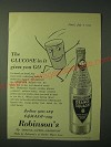 1955 Robinson's Orange Squash Ad - The glucose in it gives you go