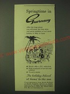 1955 Guernsey Tourism Ad - Springtime in Guernsey