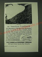 1955 New Hampshire Tourism Ad - 1805-1955 Landmark Old Man of the Mountains