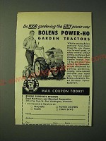 1955 Bolens Power-Ho Garden Tractors Ad - Do your gardening the easy power way