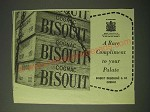 1955 Cognac Biscuit Ad - A rare compliment to your Palate