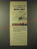 1960 Britain's Royal Navy Ad - Fly as a Helicopter pilot on a 5-year commission